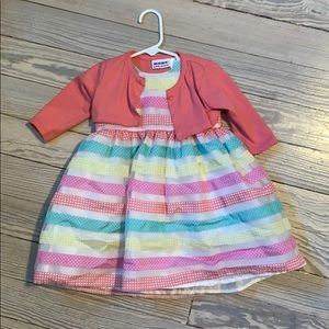 Blueberi Boulevard infant dress and cardigan set